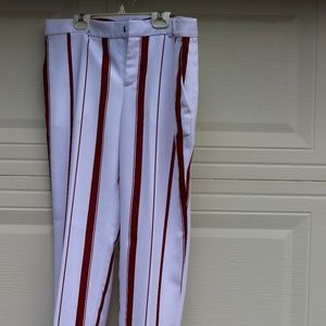 Banana Republic Red and White striped trousers